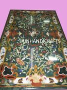 4and039x2.5and039 Green Marble Table Top Malachite Inlay Pietra Dura Handmade Home Decor