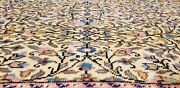Beautiful Antique 1940and039s Natural Color Wool Pile High-end Hereke Rug 8and0391andtimes12and039