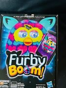 Furby Boom Interactive Hasbro Toy2013 Pink Turquoise Pink Hearts Tested Working