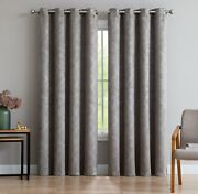 Evelyn Thermal Privacy Blackout Curtain Grommet Panels And Wall-to-wall Pairs