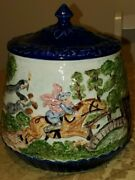 Hard To Find Lou And Colleen 1973 Vintage Cookie Jar Lid Canister Decor Horses