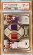 Lebron James And Kobe Bryant Game Used Combo Card Ex-mint 6 Psa