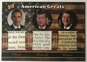 John F Kennedy Reagan Obama The Bar Pieces Of The Past Signed Document Relic