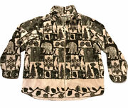Woolrich Sweater Large Good Condition Women's Camping Bear Winter Moose Outdoor