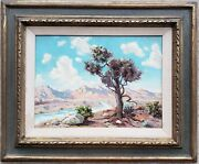 Vintage American Impressionist Southwest Or Ca Painting Hollywood Nyc Ma Artist