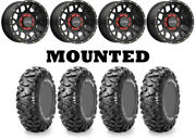 Kit 4 Maxxis Bighorn Radial Tires 30x10-14 On Kmc Ks135 Grenade Black Wheels Ter