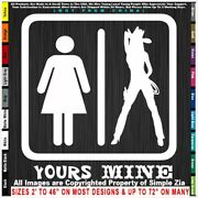 - Cowgirl Yours And Mine Sexy Country Rodeo Cowboy Horse Truck Pickup Sticker Dec
