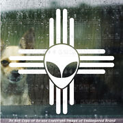 - Zia Alien Roswell Ufo Area 51 New Mexico Nm State Flag Emblem Sticker Decal