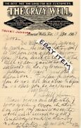 1903 Stovall Johnson Letterhead The Crazy Well Water Mineral Wells Texas Hot Wel
