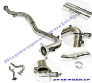 Ss Hi-flow 3 Downpipe Exhaust J Pipe Fit 15-19 Wrx/15-18 Forester 2.0t Manual