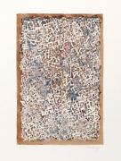 Mark Tobey Confusion Lithograph Signed And Numbered In Pencil