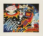Charles Bell Fireball 500 Screenprint Estate Signed And Numbered In Pencil