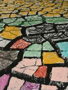 Menashe Kadishman, Stones, Lithograph With Hand Coloring, Signed In Pencil