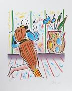 Peter Max Monk And Vase Lithograph Signed And Numbered In Pencil