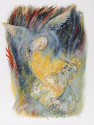 Reuven Rubin, Vii From Visions Of The Bible, Lithograph, Signed And Numbered In