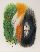 Reuven Rubin, I From Visions Of The Bible, Lithograph, Signed And Numbered In Pe