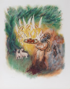 Reuven Rubin, Iii From Visions Of The Bible, Lithograph, Signed And Numbered In