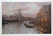 Thomas Kinkade Venice Offset Lithograph Signed And Numbered In Marker