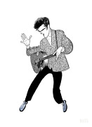 Al Hirschfeld Elvis Presley Blue Suede Shoes Lithograph Signed And Numbered