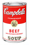Andy Warhol Campbelland039s Soup Can Beef Vegetable Screenprint Stamped Verso By