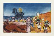 Malcolm Morley Fallacies Of Enoch 2 Aquatint Etching Signed And Numbered In P