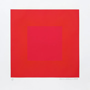 Richard Anuszkiewicz, Summer Suite Red With Gold Iv, Intaglio Etching And Aqua