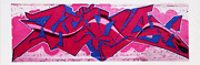 Jonathan Singer Red And Pink Tag Nyc From The Graffiti Series Digital Inkjet