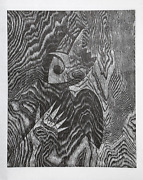 Suzanne Caporael Not You Again Woodcut Signed And Numbered In Pencil