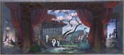 Robert Davison Madame Butterfly Pastel And Gouache On Paper Signed