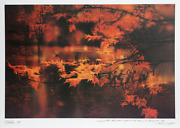 Robert Peak, Autumn Leaves Frank Gifford, Lithograph Poster, Signed And Dated