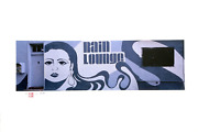 Jonathan Singer Rain Lounge Mural From The Graffiti Series Digital Inkjet Prin