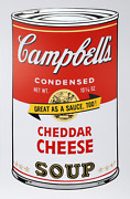 Andy Warhol Campbelland039s Soup Ii Cheddar Cheese Screenprint Stamped In Blue Ve