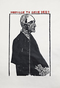 Leonard Baskin Homage To Gene Debs Woodcut Print On Rice Paper Signed And Num