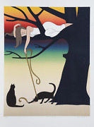 Will Barnet Play Screenprint With Lithograph On Arches Signed And Numbered In