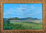 Mario Sauceda View Of The Coast Oil On Canvas Signed U.l.