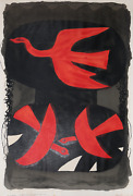 Georges Braque Three Birds Lithograph Poster