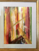 Max Robinson Jamaica Gouache On Paper Signed L.r.