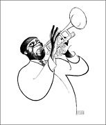 Al Hirschfeld Louis Armstrong - Satchmo Lithograph Signed And Numbered In Pen