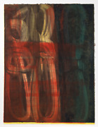 Stephen Ellis Untitled Monotype On A Heavy Hand-made Paper Signed And Dated
