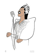 Al Hirschfeld Billie Holiday - Lady Day Lithograph Signed And Numbered In Pen