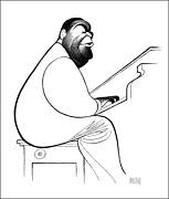 Al Hirschfeld Fats Waller Lithograph Signed And Numbered In Pencil