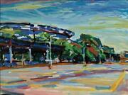 Alfred Sandford Shea Stadium No. 2 Acrylic On Arches Estate Stamped Verso