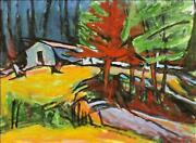 Alfred Sandford The Dorm At The Trailing Yew Acrylic On Arches Estate Stamped