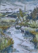 Laurent Marcel Salinas River And Village In Brittany Land039elorn A Sizun 956 O