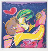 Rubens Gerchman The Kiss Screenprint Signed And Numbered In Pencil