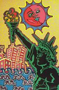 Kip Frace Statue Of Liberty Screenprint Signed And Numbered In Pencil