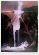 Robert Peak Sun Canyon Wilt Chamberlain Lithograph Signed And Numbered In P