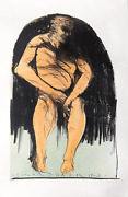 Leonard Baskin, Olympus - The Athlete For The Olympics, Lithograph, Signed In Pe