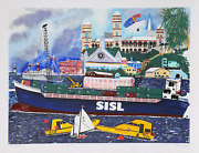 Malcolm Morley Sisl Screenprint Signed And Numbered In Pencil