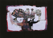Wolfhard Roehrig La Rapita Acrylic And Mixed Media On Paper Signed And Dated